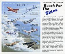 República Centroafricana 2000 estampillada sin montar o nunca montada Aviation 8v M/S II Boeing F-16 Stealth sellos