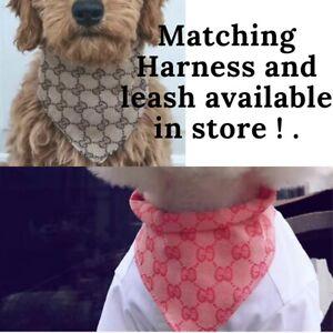 DOG/PUPPY 'Designer' BANDANA TO MATCH HARNESS & LEAD SET S M L