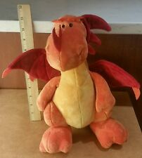 "Nici 30cm 12"" Great Gizmos Sitting Dragon Orange Plush Fantasy Stuffed Animal"