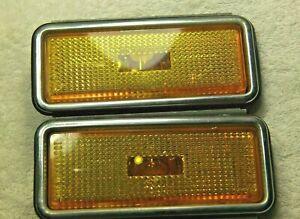 1979-1983 Fiat 124 Spider OEM Front Side Marker Light Assemblies Set Pair L & R