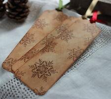 3 SNOWFLAKE BOOKMARKS-Vintage Style-Christmas-Stocking Filler-Teachers-UNIQUE