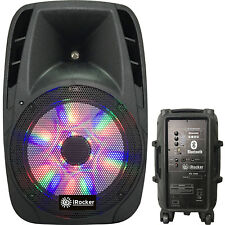 "Portable Loud Speaker 1000W Bass Stereo Sound System 12"" Usb Bluetooth Wireless"