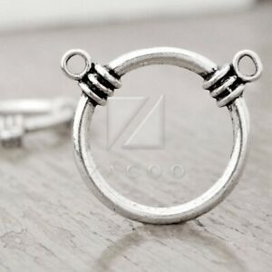 10pcs Tibetan Silver Charm Pendant Link Connector Jewelry Makings Ring 35mm