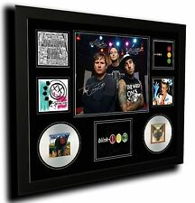BLINK 182 SIGNED LIMITED EDITION FRAMED MEMORABILIA