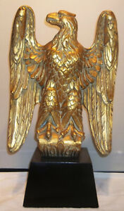 LARGE Antique 19th C. Carved Wood Federal Style Gilt Eagle Awesome Condition