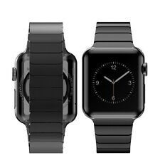 Black Stainless Steel Bracelet Butterfly Watch Strap for Apple Watch Series 1 2