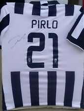 ANDREA PIRLO ITALY SIGNED 21 JUVENTUS 2014-15 CHAMP NIKE JERSEY SHIRT+PROOF AUTO