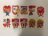 Lot of 10 Vintage 1974 McDonald's Valentine Card Set - Unused