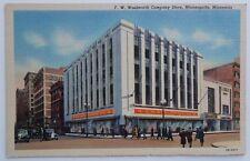 Postcard of F. W. Woolworth Store in Minneapolis, Minnesota