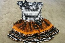 Girls Bonnie Jean Orange, Black, White Halloween / Fall / Thanksgiving Dress 5