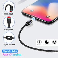 Magnatic Enchufe Tipo C Micro Usb Cargador Rápido Cable de LED para Huawei Samsung Note 10