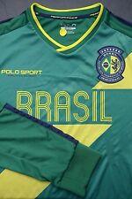 NWT Polo Ralph Lauren Men's Brazil Sport Green Poly Jersey shirt Copa America XL