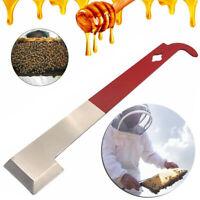 J Shape Stainless Steel Beekeeping Red Curved Bee Hive Hook Scraper Tool