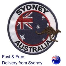 Australia flag iron on patch Australian kangaroo Sydney badge Oz Aussie patches