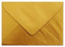 25x Briefumschläge Mini feuchtklebend Gold (7,0 x 5,1 cm)
