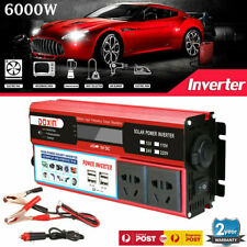 Power Inverter 6000W Pure Sine Wave 12V to 220V Boat Caravan Chargers Converter