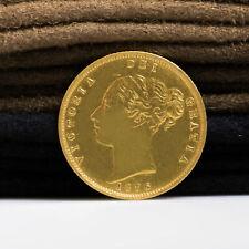 VICTORIA 1876 GOLD HALF SOVEREIGN COIN