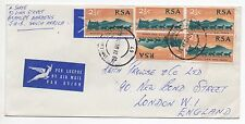 1969 SOUTH AFRICA Air Mail Cover JOHANNESBURG To LONDON SG297 Jaffe