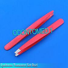 2 EYEBROW TWEEZERS IN Red