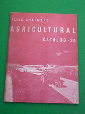 VINTAGE ALLIS CHALMERS AGRICOLI CATALOGO 35 (catalogo) trattori combina