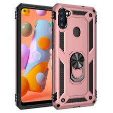 For Samsung Galaxy A11 Case Magnetic Ring Holder Stand Hybrid Hard Phone Cover