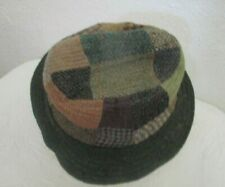 Hanna Hats Patchwork Wool Irish Walking Style Bucket Hat Ireland Medium Green