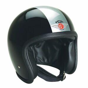 Davida 92 TT Open Face Motorcycle Helmet Black Silver XS Extra Small RRP £299 *