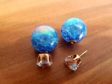 Türkis Mode-Ohrschmuck mit Strass-Perlen für Damen