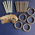 Rim Cylinder Parts - Tailpieces Screws Plates Rose Escutcheons - Free Tracking