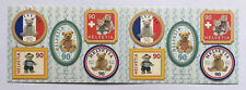Carnet timbres suisses YT CH C1721 Ours teddy neuf YT CH1721/1725 Zum 1054/1058