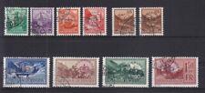 Liechtenstein 1934 - Mi. Dienst 11 - 19 inkl 15a und b gestempelt