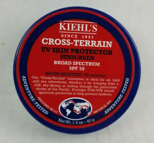 Kiehl's Cross Terrain UV Skin Protector Spf 50 Sunscreen Balm NEW discontinued