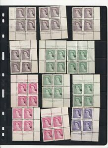 CANADA MNH QEII Official G Overprint Collection of Plateblocks HIGH CV 2 Pages
