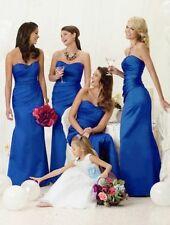 Sale Full Length Bridesmaids Dress Royal Blue UK Stock Size 16