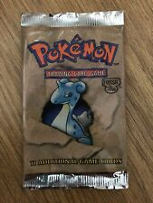 Empty Fossil booster pack Red Logo Australian release only Lapras No cards