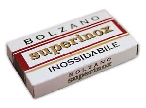 Bolzano Superinox Rasierklingen Soppelseitig Rostfrei 5 Stück
