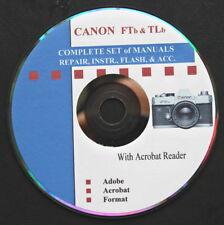 CANON FT & TL b SUPER Set of Repair & Instruction Manuals on CD  :o)