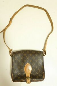 Authentic Louis Vuitton Cartouchiere MM Shoulder bag brown #7558
