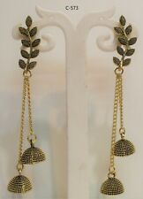 Indian Bollywood Gold Plated Earring Jumka Jumki Long Drop Traditional oxidized