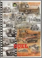 POSTER CAMION RéTRO film DUEL PETERBILT CONVENTIONAL 1956 / PLYMOUTH   56X42cm