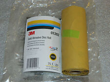 "1 NEW 75 DISC ROLL OF 3M 01202 STIKIT GOLD ABRASIVE DISC 6"" INCH ROLL P500 GRIT"