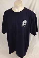 United Autoworkers Local 933 Navy Blue Shirt Bayside Made in USA 100% Cotton 2XL
