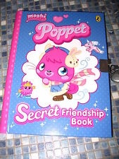 MOSHI MONSTERS POPPET SECRET FRIENDSHIP BOOK WITH LOCK & KEY STICKERS BRAND NEW