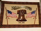 """Vintage 1776 1976 American Bicentennial Tapestry Liberty Bell US Flags 57""""X37.5"""""""