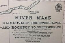 ADMIRALTY  SEA  CHART. No.192. RIVER MASS. NORTH SEA. NETHERLANDS. 1959.