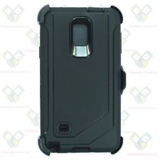 For Samsung Galaxy Note 4 Case Cover w/ [Belt Clip Fits Otterbox Defender] Black
