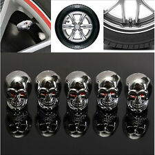 5pcs Car Skull Auto Wheel Tyre Tire Stem Air Valve Caps Dust Covers New