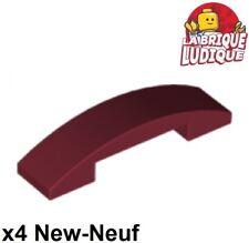 4x Slope curved pente courbe 1x2 gris foncé//dark bluish gray 11477 NEUF Lego