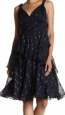 Rebecca Taylor SLEEVELESS METALLIC CLIP DRESS Size 10 New $658
