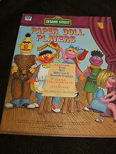 Sesame Street Paper Doll Book,1976, Muppets Theatre, Red Riding Hood, Goldilocks